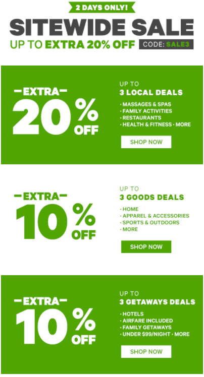 Groupon: Deals and Coupons for Restaurants, Fitness, Travel, Shopping, Beauty, and moreFind Deals Near You · 1 Billion Groupons Sold · Discover K+ Deals · Local, Goods & GetawaysTypes: Beauty & Spa, Food & Drink, Travel.