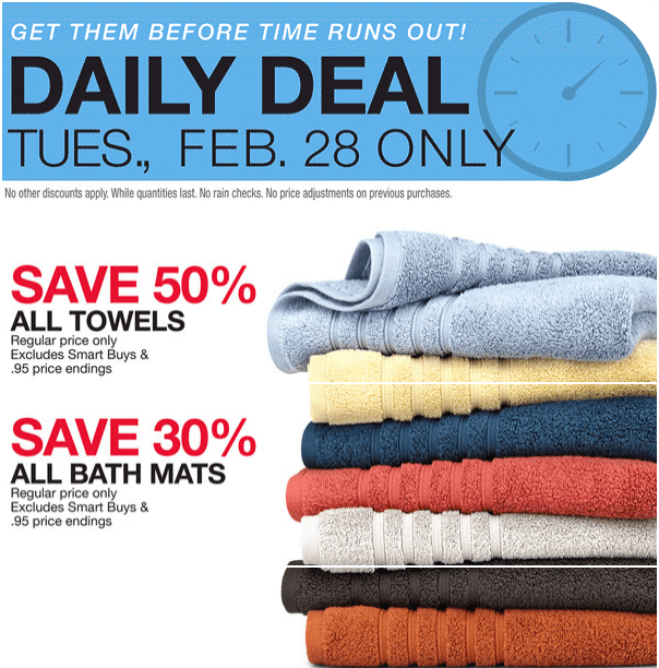 Home Outfitters Canada Daily Deals Today Save 50 Off All Towels 30 Off All Bath Mats More