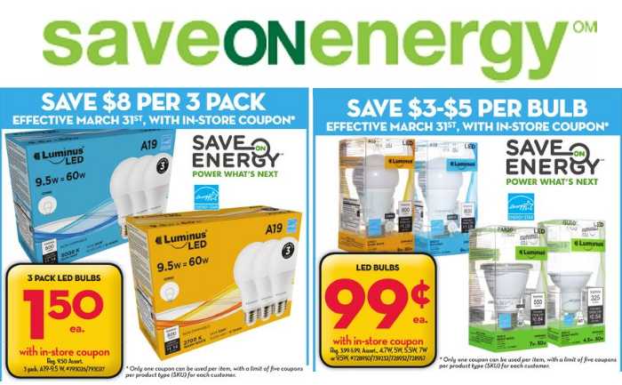 Save on Energy In Store Coupons March-April 2017