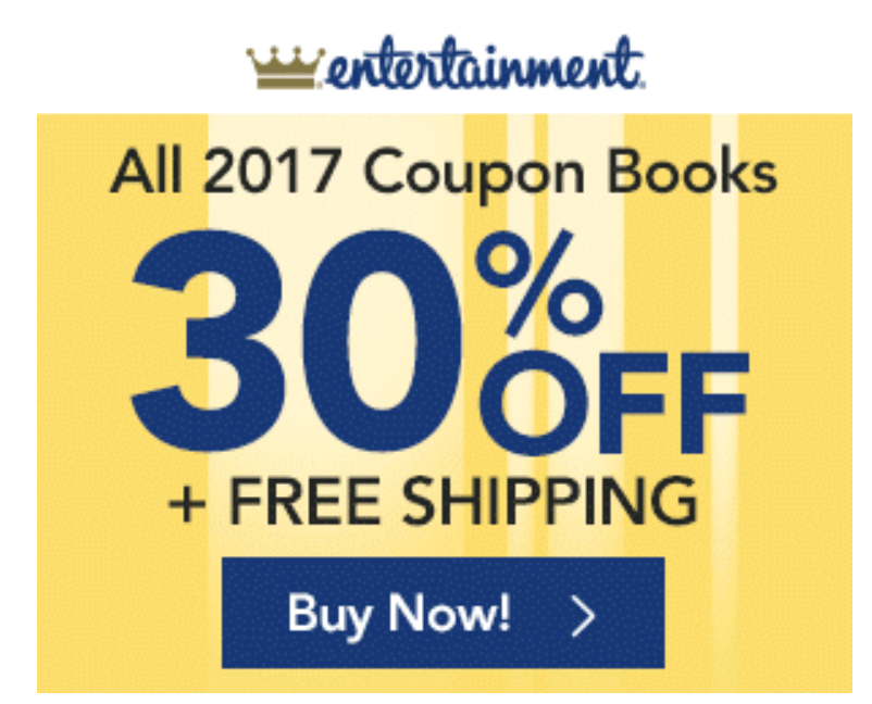 entertainment coupon book shipped nationwide
