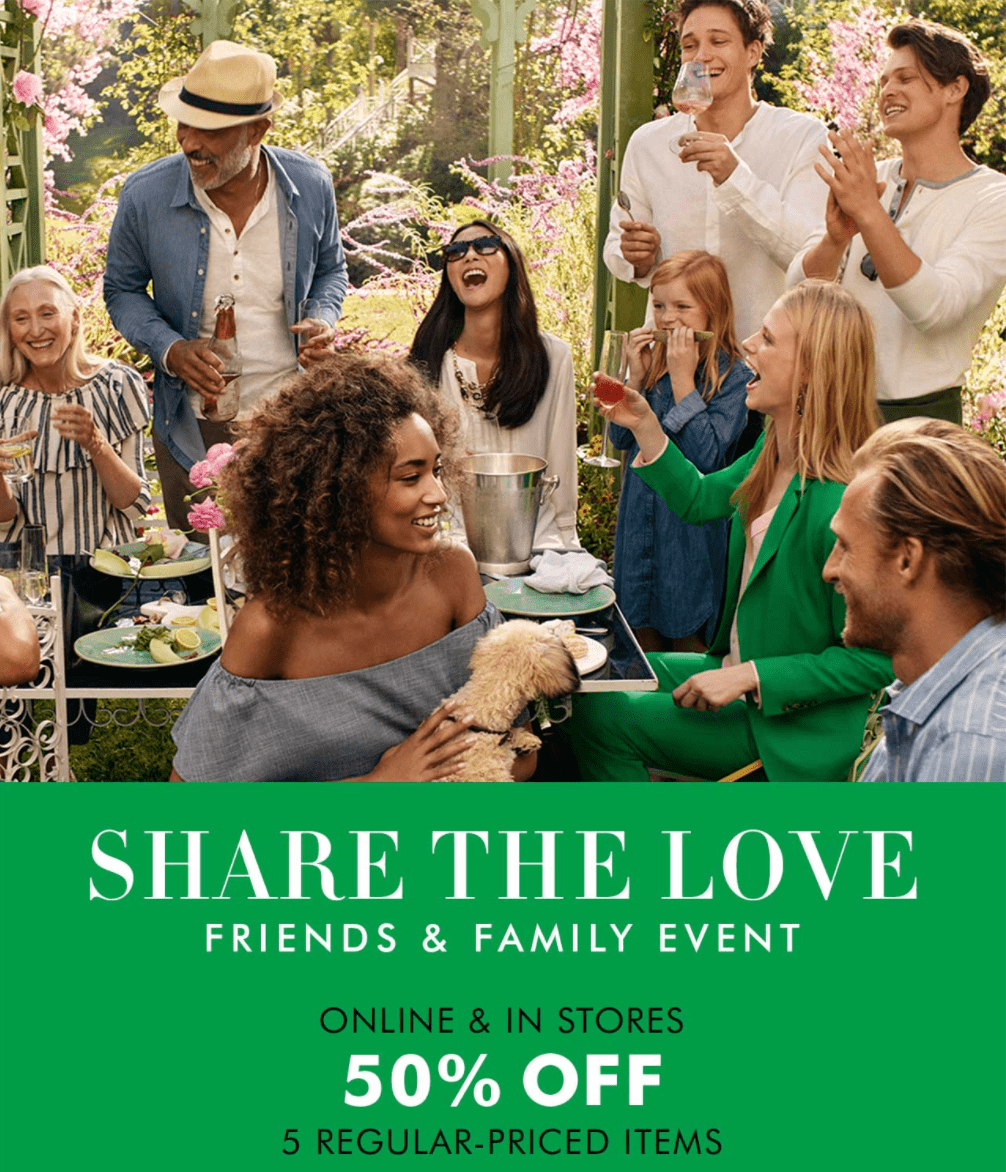 Banana republic outlet coupon friends and family