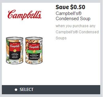 photograph regarding Campbell Soup Printable Coupon called Canadian Coupon codes: Help save 50 Cents Though Yourself Obtain Any