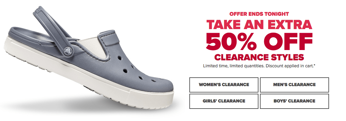2810a7792 Crocs Canada Sale  Save an Extra 50% off Clearance Items!