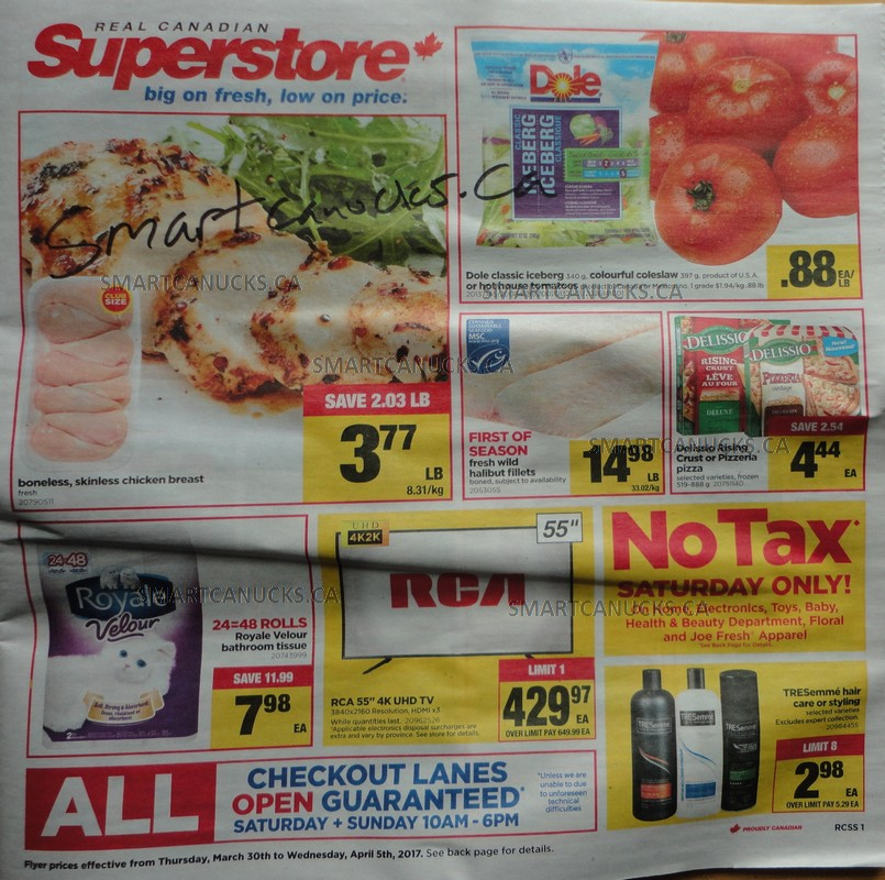 Real Canadian Superstore April 1 No Tax