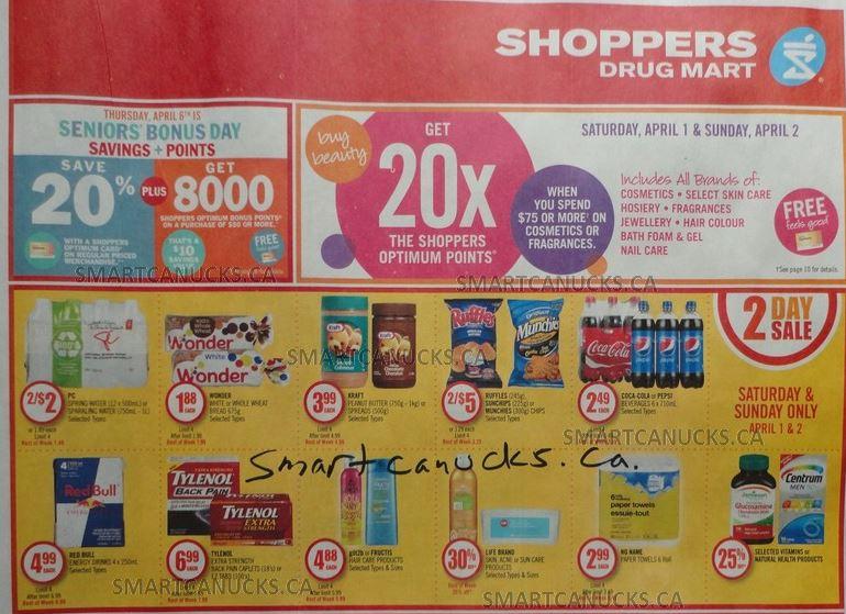 Shoppers Drug Mart flyer April 1-7