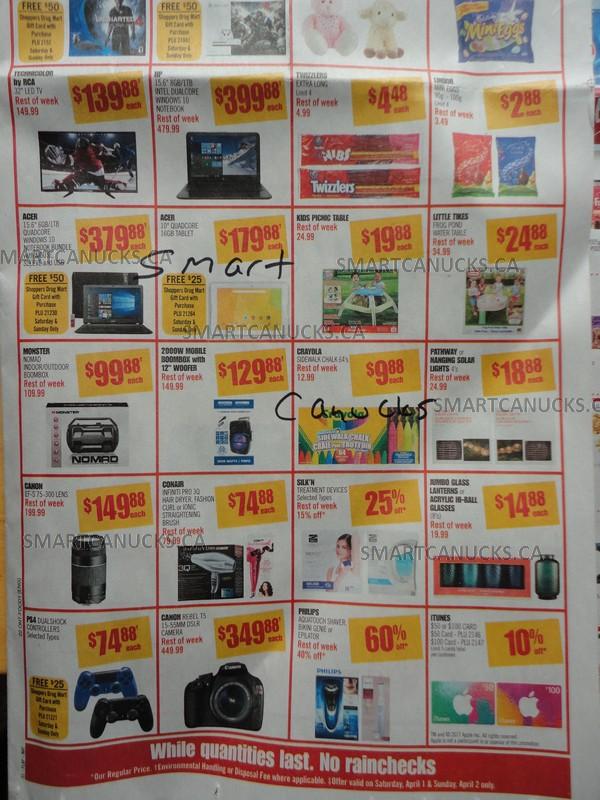 Shoppers Drug Mart Super Sale Ontario April 2017
