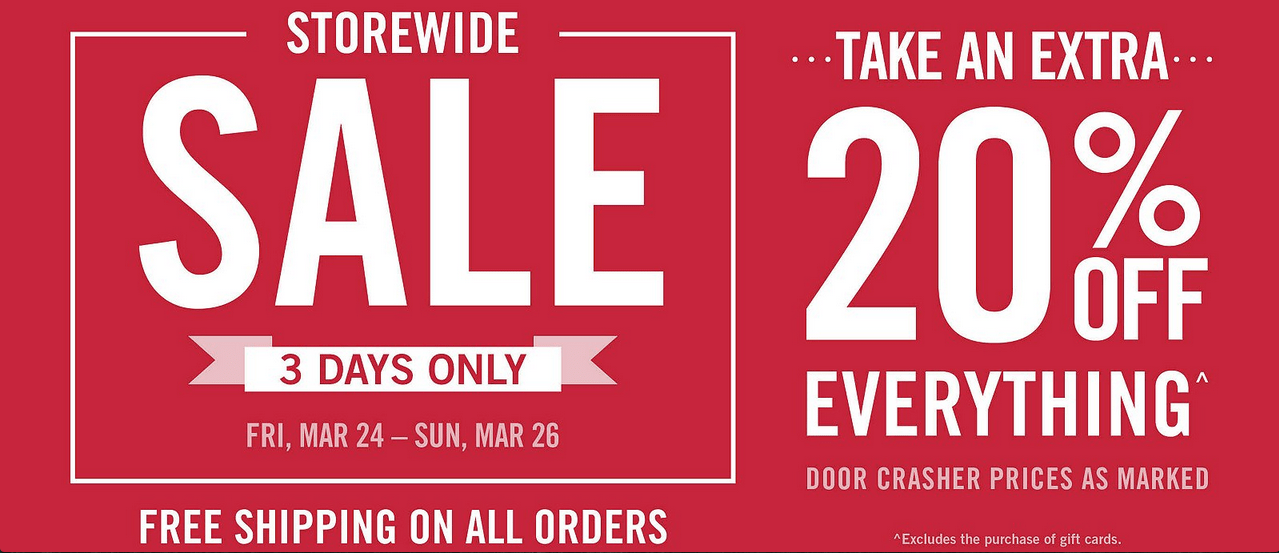 9ae3bbcc6c6 For 3 days only, Mark's Canada is offering an incredible Storewide Sale  with extra savings of 20% off everything! Plus, shop online now to receive  FREE ...