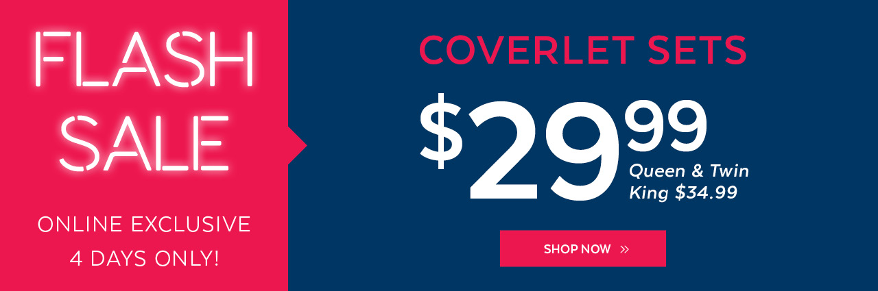 Qe home quilts etc canada flash sale coverlet sets for Flash sale sites for home