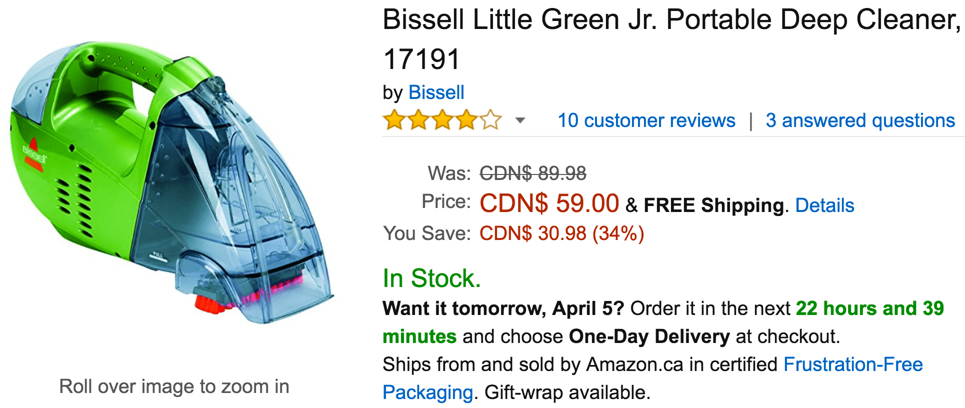 bissell little green jr manual