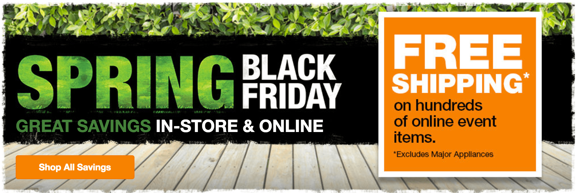 The Home Depot Canada Spring Black Friday Sale Save On
