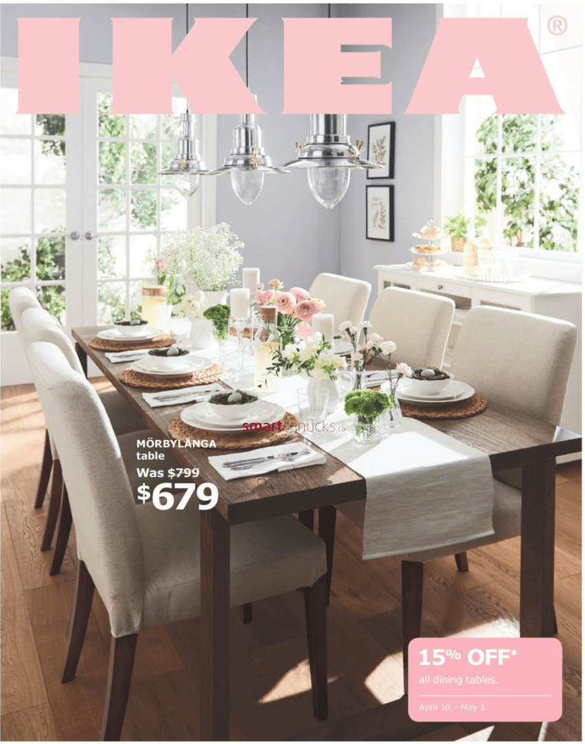 Ikea Canada Dining Event Save 15 Off All Dining Tables April 10 To May 1 Canadian Freebies Coupons Deals Bargains Flyers Contests Canada