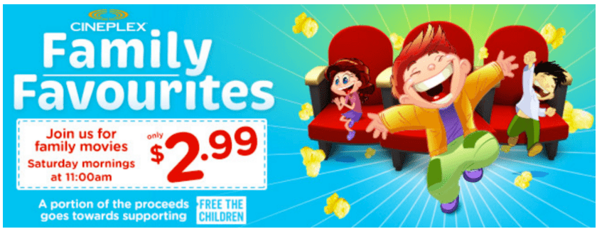 Cineplex Canada Family Favourites Movies Promotions:Trolls For $2.99/Ticket, Today, Saturday, May 20 at 11AM!