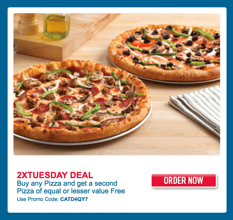 It's cheaper Tuesday at Domino's! Pickup some affordable pizza today from your favorite pizza store. Value Pizza are $ each while Tradiational Pizza are $ each.