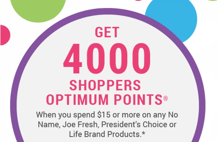 Shoppers Drug Mart 4000 Points WUS $15 on Life, PC and More