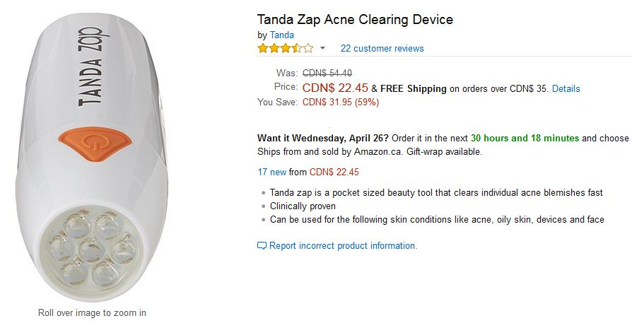 Tanda Zap Amazon Clearance Canada