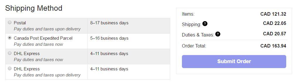Ulta Shipping To Canada - Prepaid Taxes