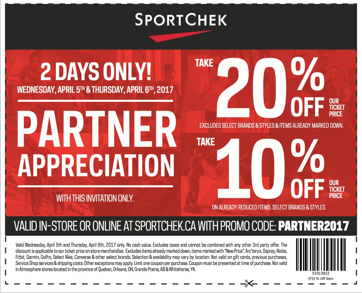 sport chek canada deal save 10 20 off using promo code canadian freebies coupons deals. Black Bedroom Furniture Sets. Home Design Ideas