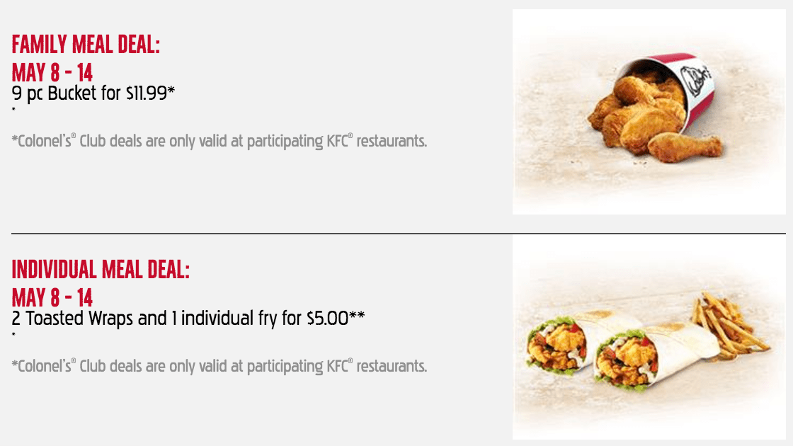 Kfc family meal coupons