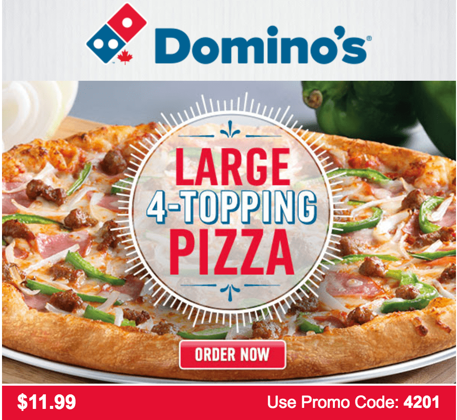 Domino's pizza coupon code today