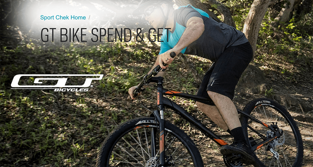 Sport Chek Canada Deals Free 100 Gift Card With Purchase Of Gt Bike 50 Off Fitbit Canadian Freebies Coupons Deals Bargains Flyers Contests Canada