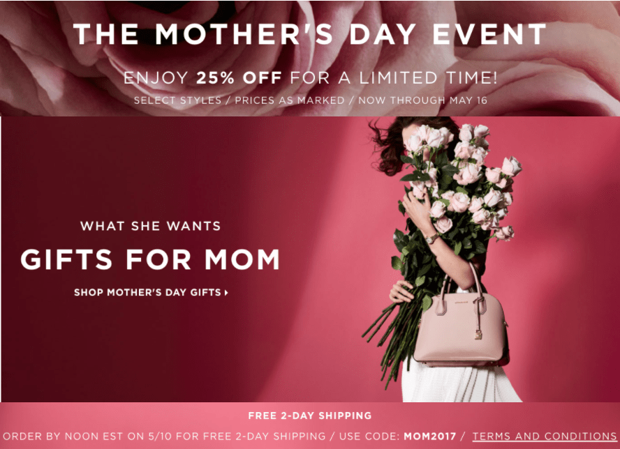 534401855f32 Michael Kors Canada has a new Mother s Day promotions available now! The  Michael Kors Canada Mother s Day promotions include