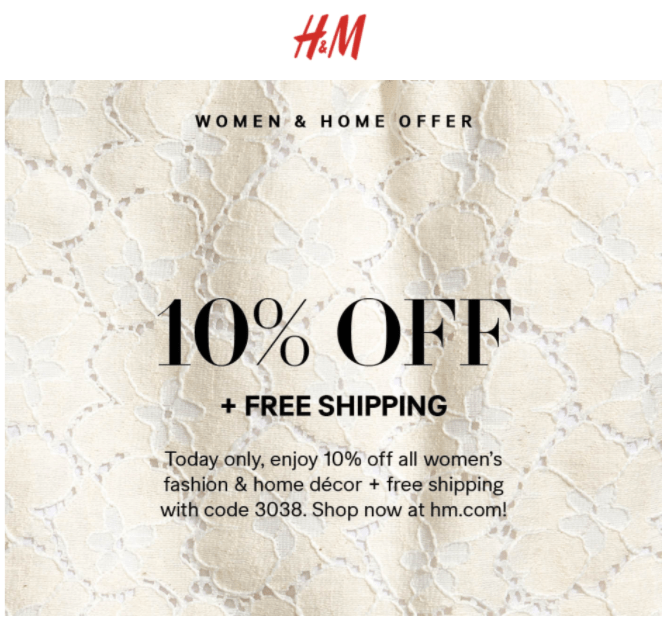 H M Canada Offers Save 10 Off All Women S Fashion Home Decor
