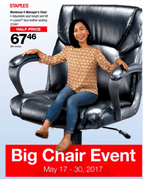 9b8b05437ba29 Staples Canada Big Chair Event  Save Up to 50% Off on Office Chairs ...