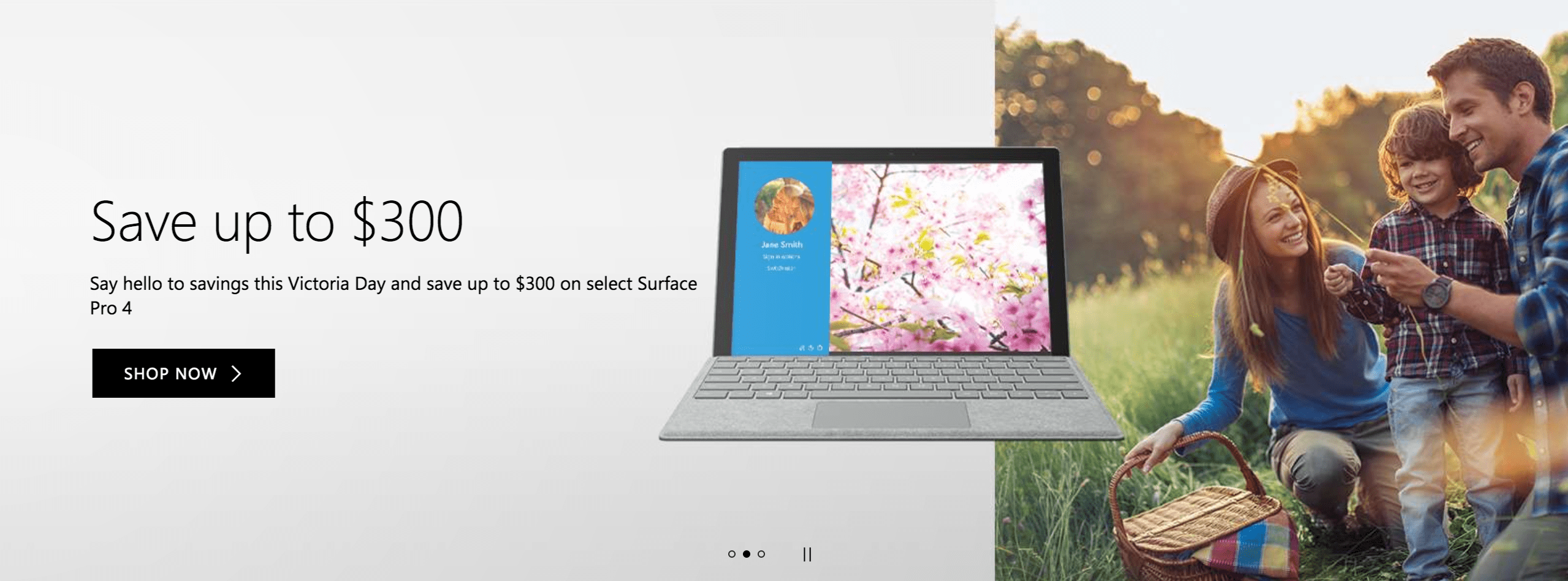 Microsoft Canada Victoria Day Deals: Save Up to $300 on Surface 4 Pro + FREE Shipping + More