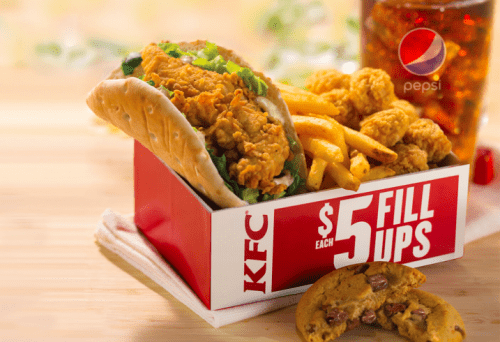 KFC Canada New Kentucky Flatbread Sandwich