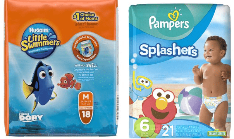 Walmart Camada Offers: Pampers Splashers Disposable Swim Pants for $10.97,  Huggies Little Swimmers Swim Pants for $10.97 & More Deals