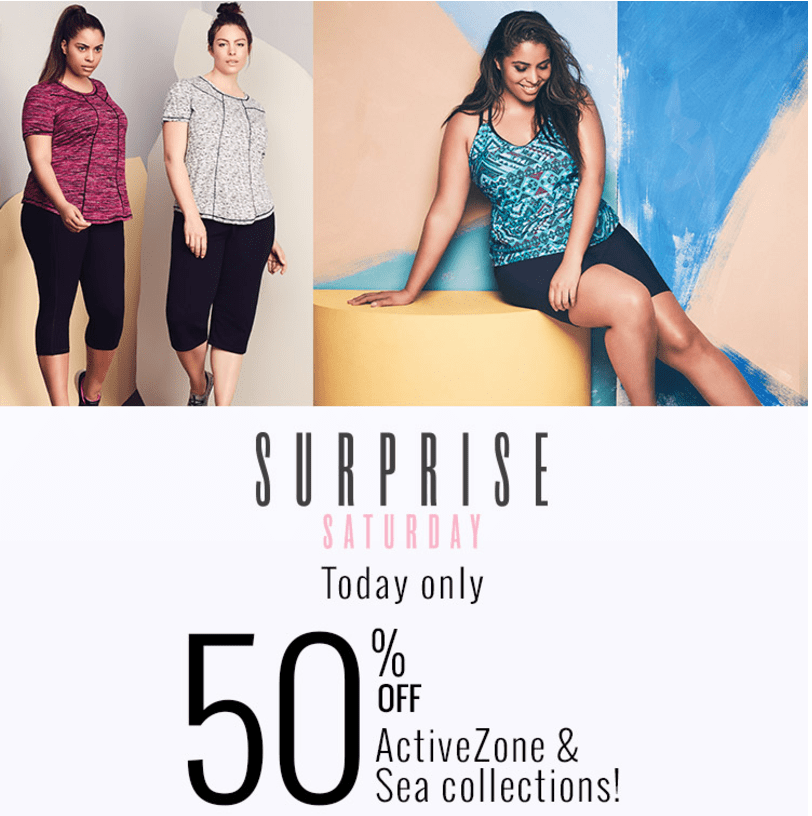 Penningtons Canada Surprise Saturday Sale: Save 50% Off Activezone & Swimwear, Today & More Deals
