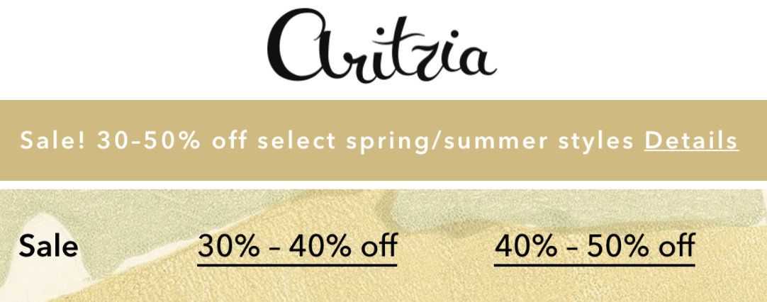 Aritzia Canada Online Sale: Save 30-60% Off Select Spring & Summer Styles