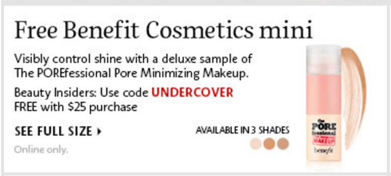 Benefit cosmetics deals