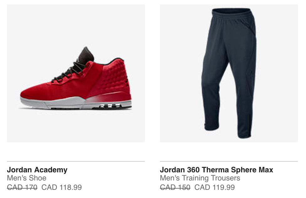 0ac4f2f7e5454 Check out this sweet deal at Nike Canada! Now you can save up to 30% off  Jordan styles including sneakers