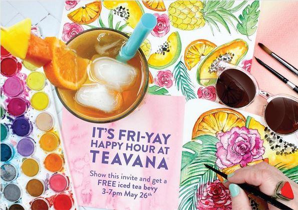 Fre tea at Teavana for FriYAY Happy Hour