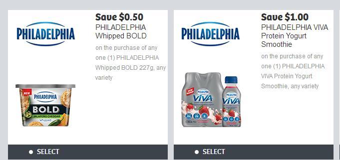 Philadelphia coupon canada