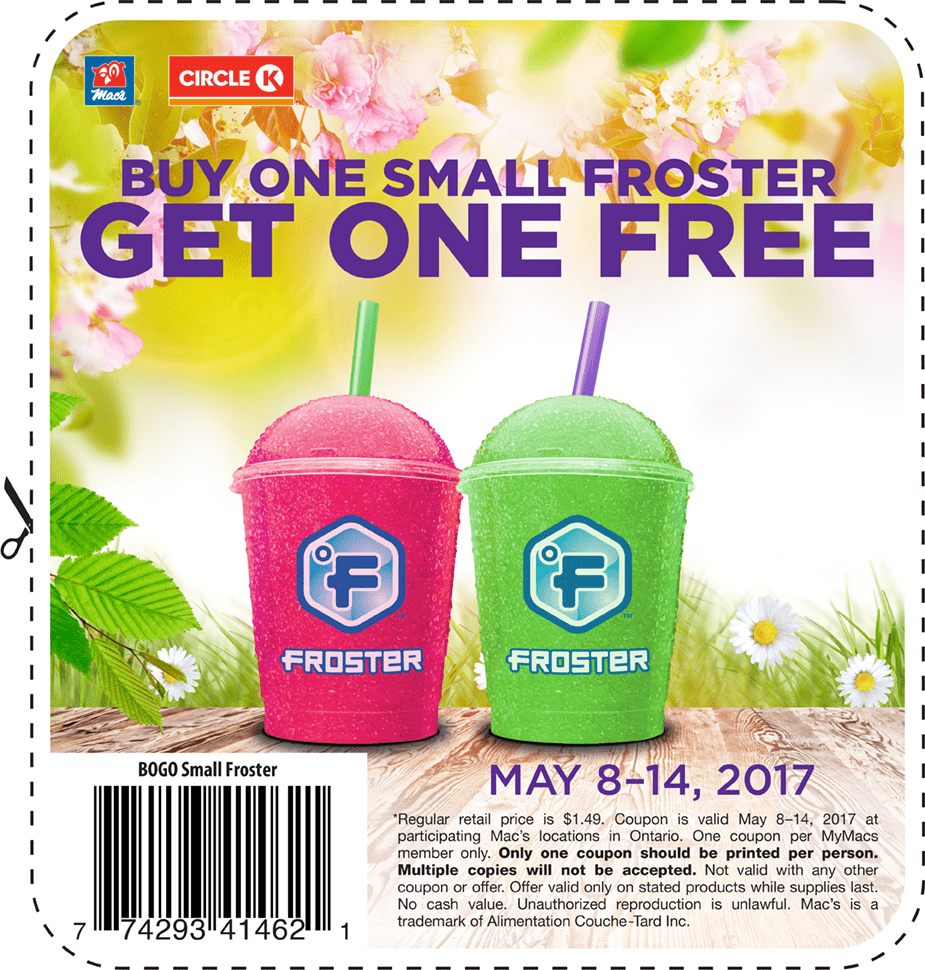 Mac S Convenience Store Amp Circle K Deal Buy 1 Froster Get