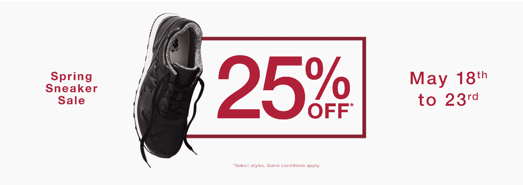 Roots Canada Spring Sneaker Sale: Save 25% off Sneakers + FREE Shipping on ALL Orders!