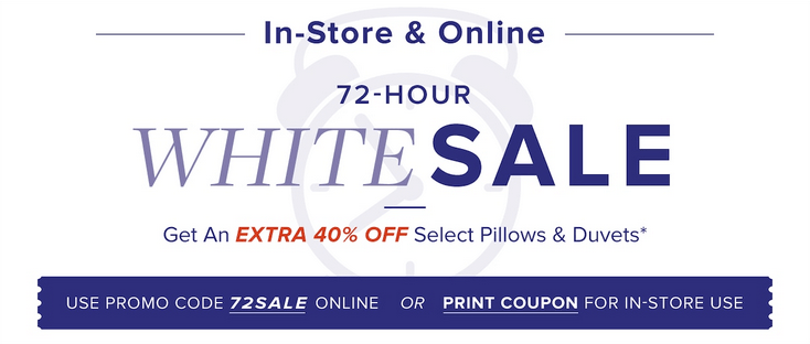 Linen Chest Canada 72 Hour White Sale: Save an Extra 40% ...