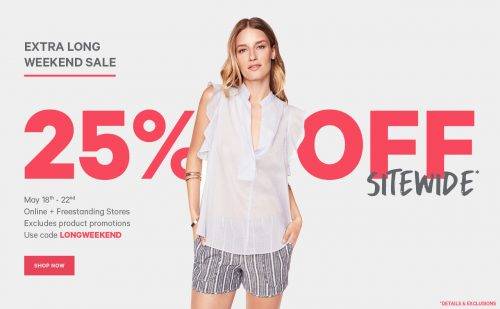 Joe Fresh Canada Clearance Sale: Up to 60% Off and Save an Extra 25% Off Sitewide Until May 22