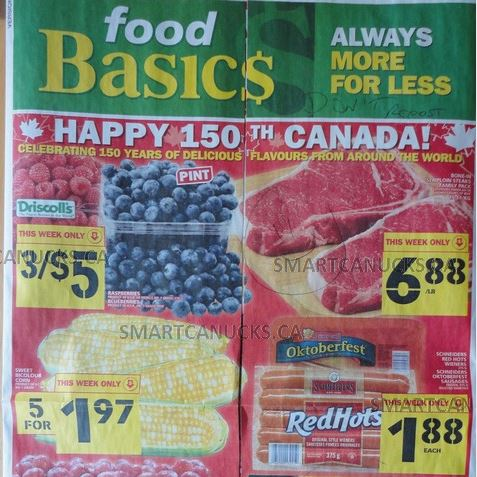 Food Basics Ontario Canada Day Flyer