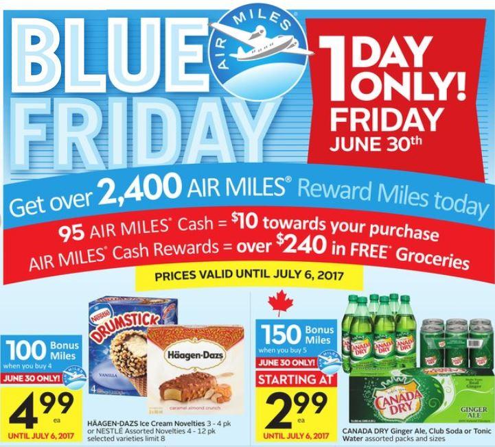 Safeway Blue Friday Deals Canada Day