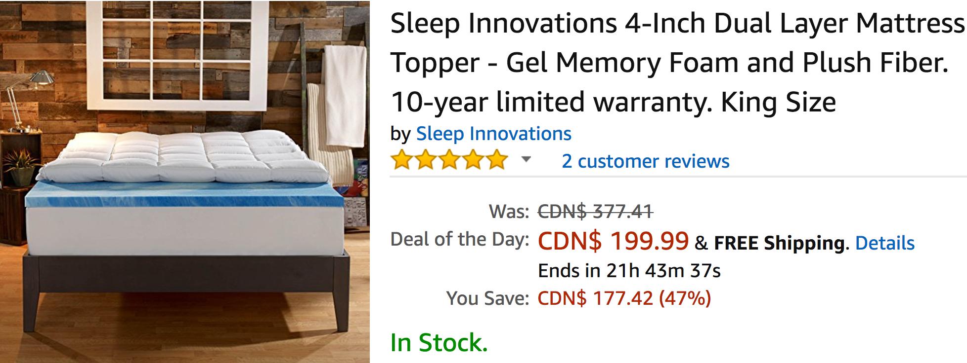 Amazon sleep innovations coupon