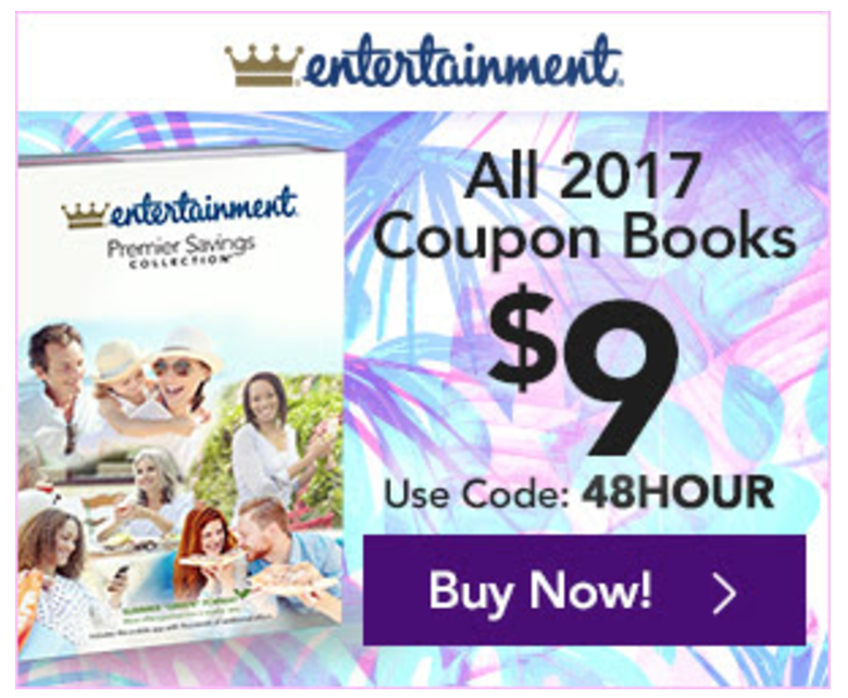 Entertainment book coupon code
