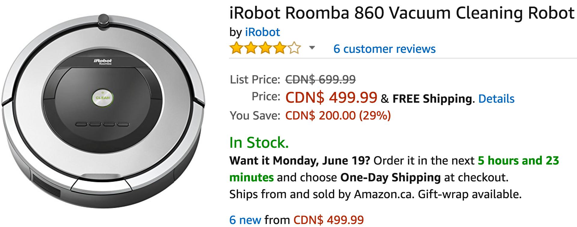 Amazon coupon irobot