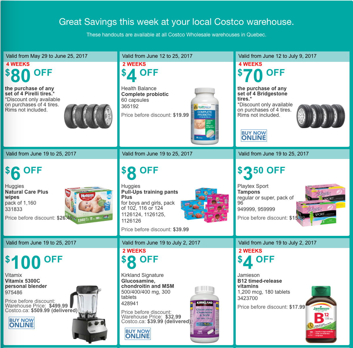 Costco coupon policy canada