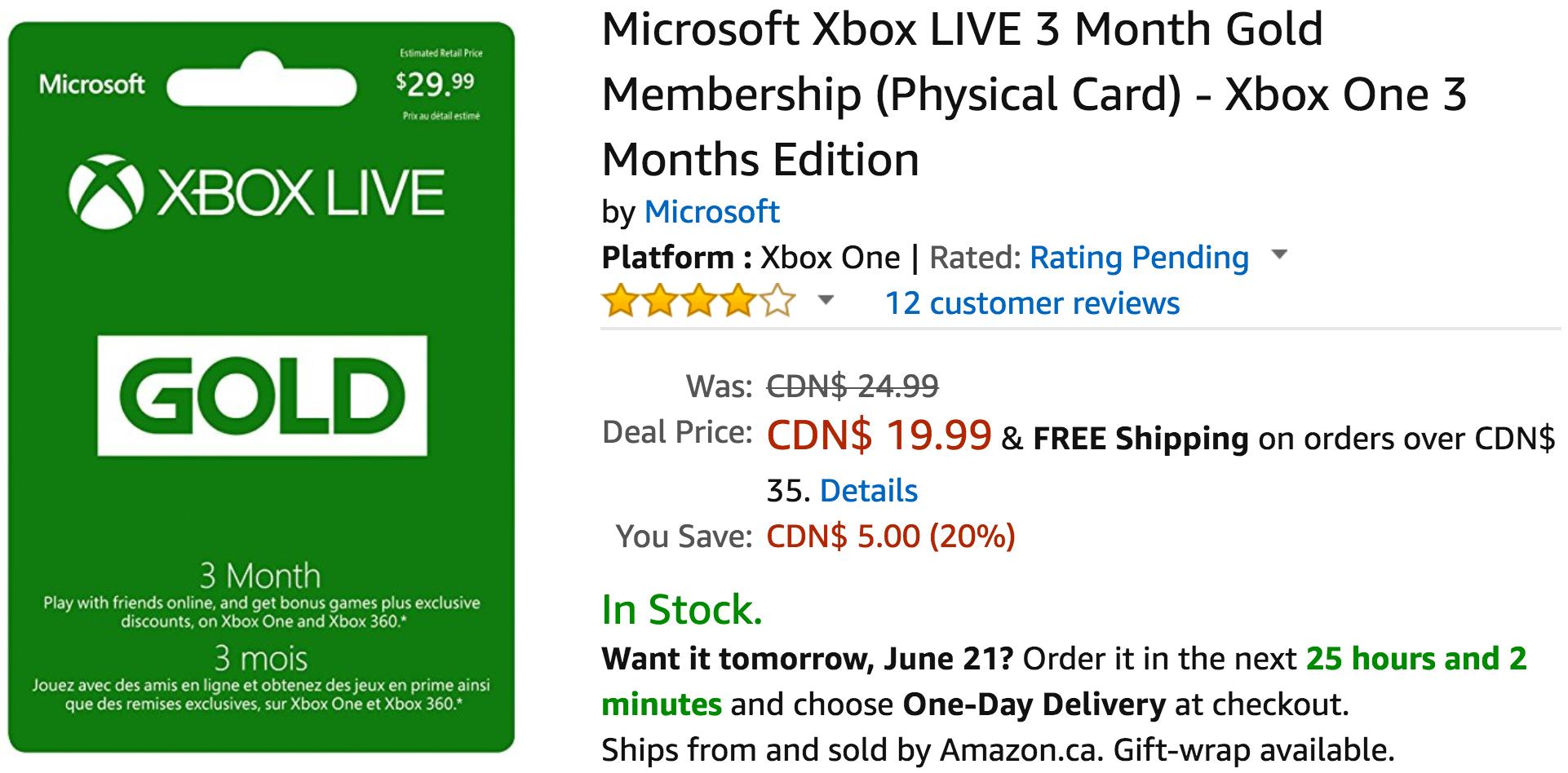 Microsoft xbox live membership deals - Computer parts online