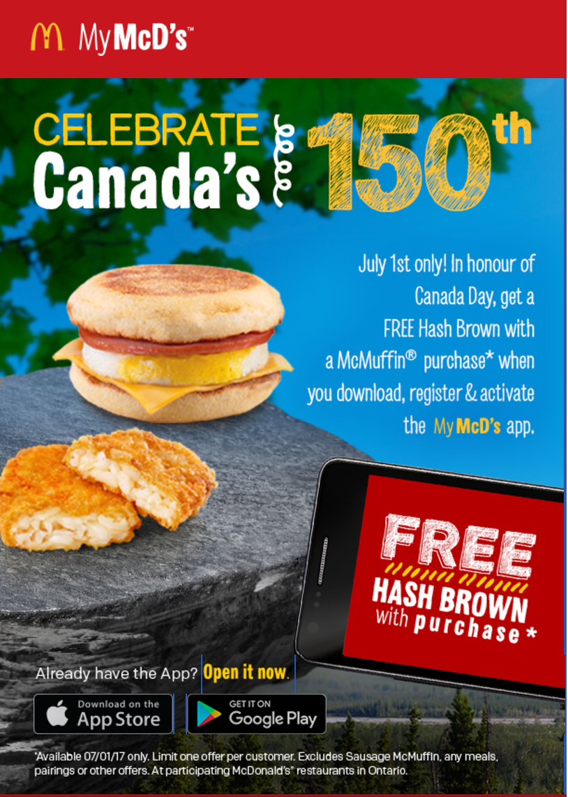 Mcdonalds coupons alberta
