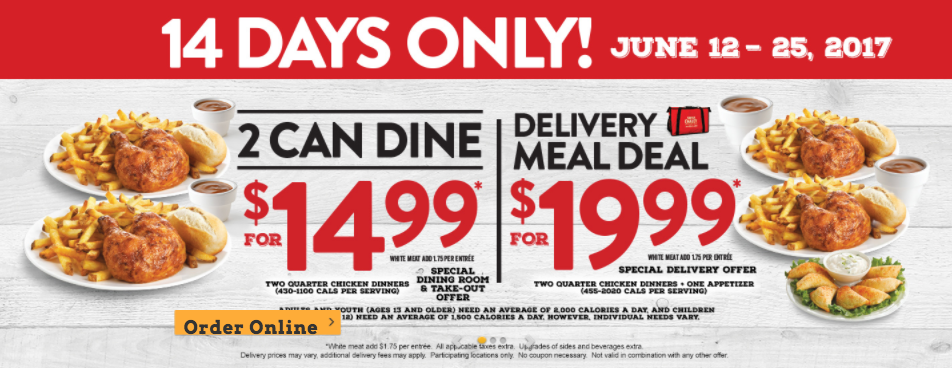 Dinner delivered coupon code