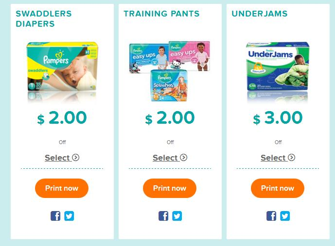 Print pampers coupons
